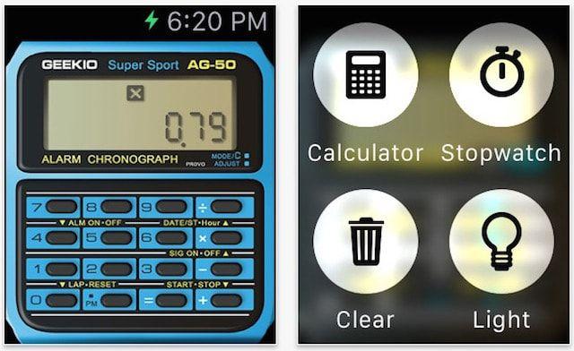 ретро часы - приложение для Apple Watch
