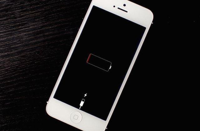 iPhone 5 разряжен