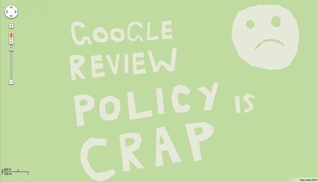 Троллинг в картах Google