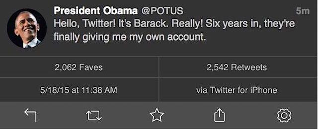 Барак Обама в Twitter