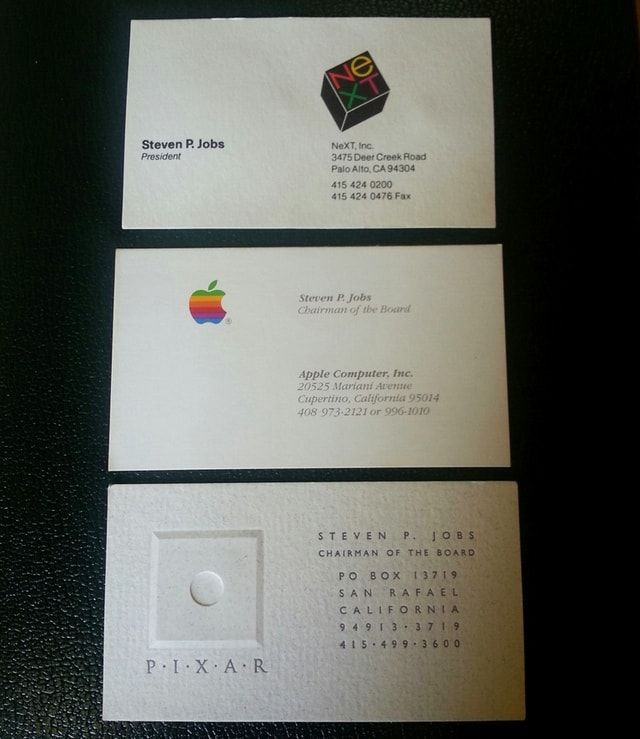 Визитные карточки Стива Джобса