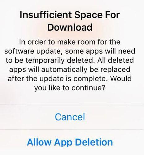 App Deletion, iOS 9