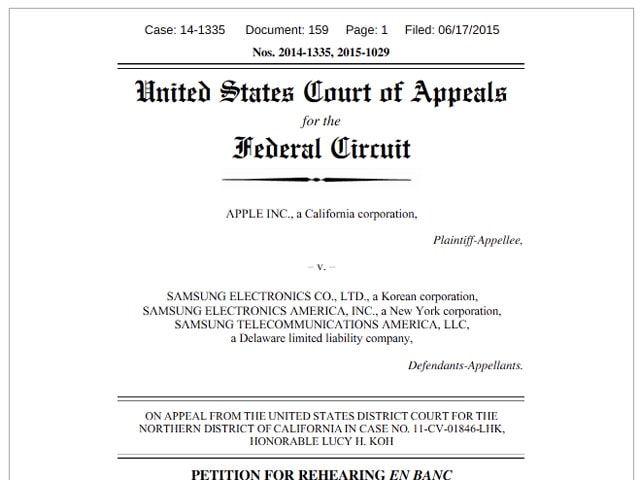 Apple, Samsung, патентные войны
