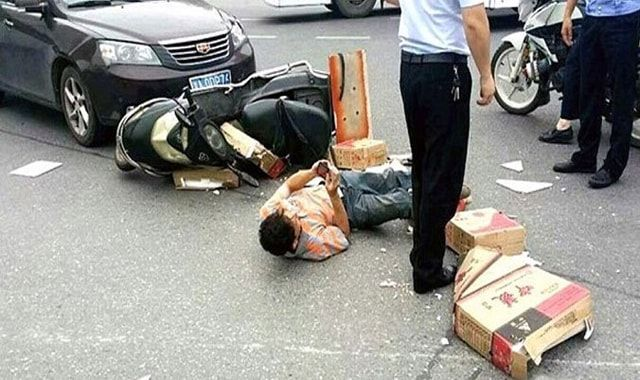 мотоциклист, Китай
