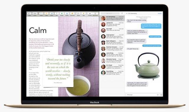 SplitView os x el capitan