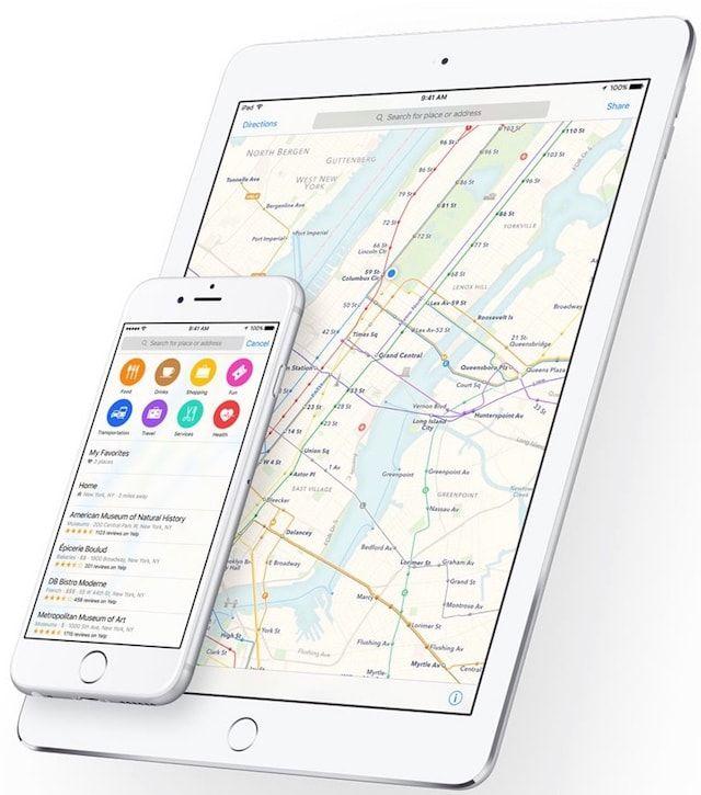 Карты Apple в iOS 9