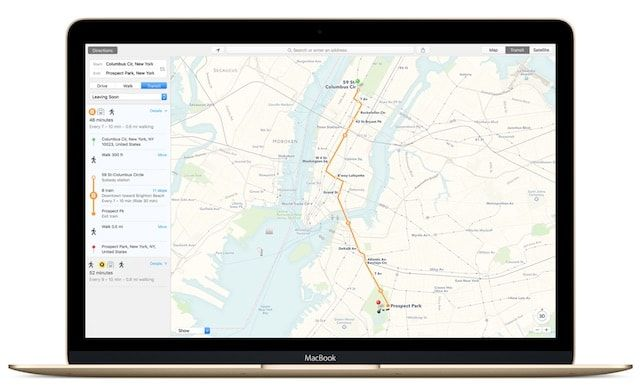 Карты Apple на Mac OS X