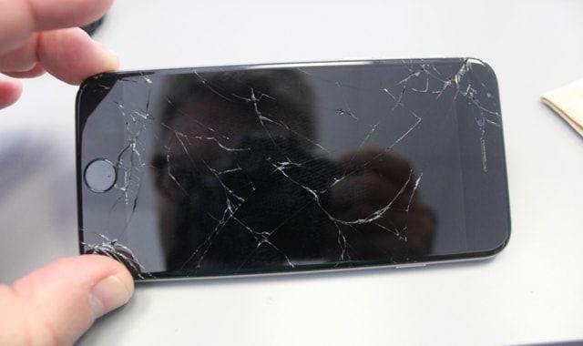 iPhone 6, повреждение экрана