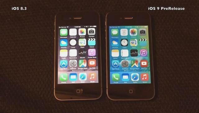 iOS 9 против iOS 8.3