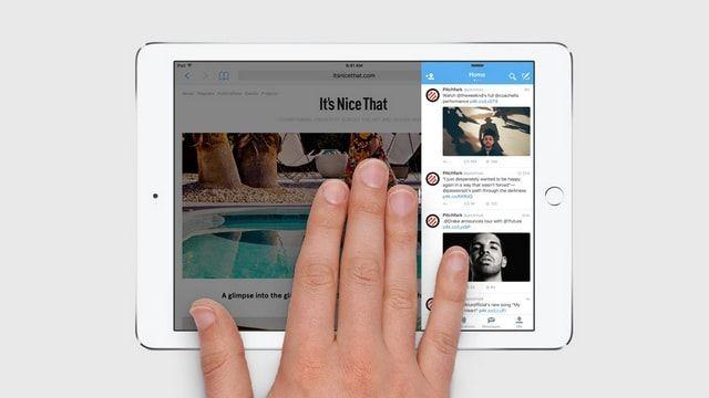 Мультизадачный режим на iPad в iOS 9