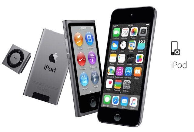 Раздел iPod на сайте Apple