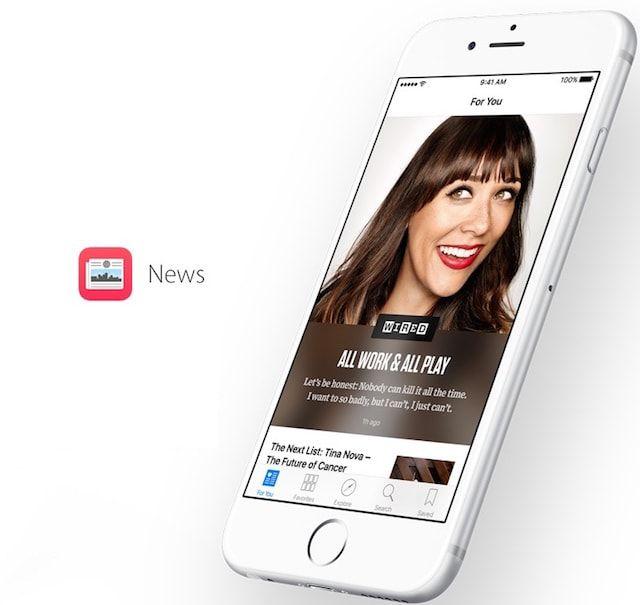 приложение Новости в iOS 8