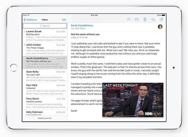 Картинка в картинке на iOS 9