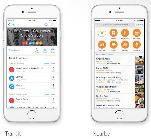 transit nearby в iOS 9
