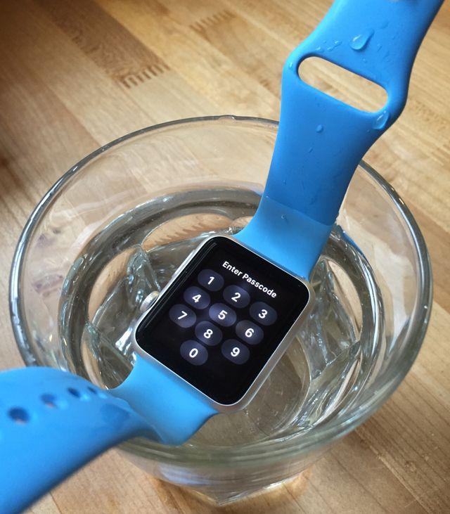 Apple Watch, тесты в воде