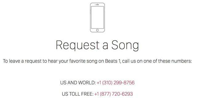 Beats 1, заявки радиослушателей