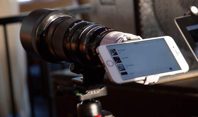 Olympus Air, камера, iPhone