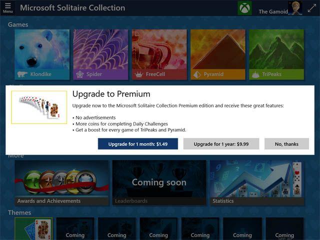 Windows 10, Solitaire