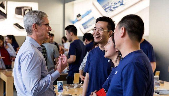 тим кук в китайском apple store