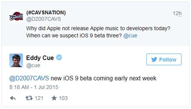 iOS 9, beta 3