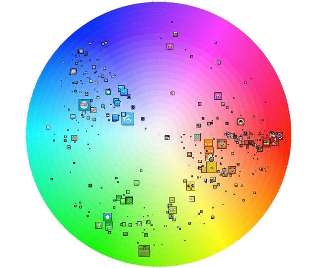 иконки приложений, цветовая палитра