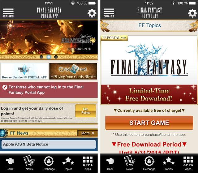 Final Fantasy Portal App, скачать бесплатно