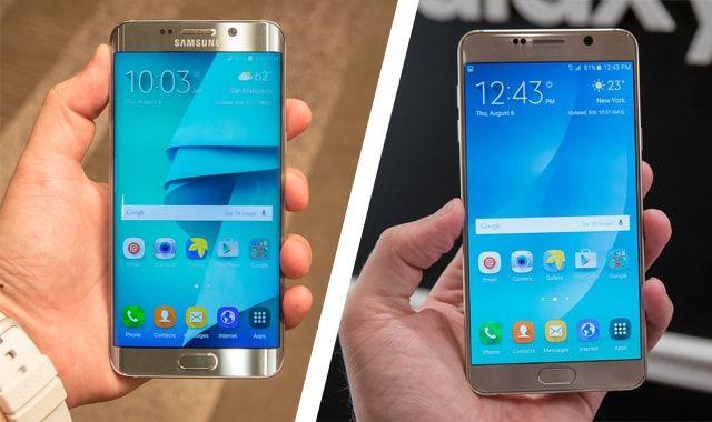 Samsung Galaxy S6 edge+, Samsung Galaxy Note 5