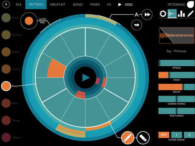 Patterning, iPad, драм-машина