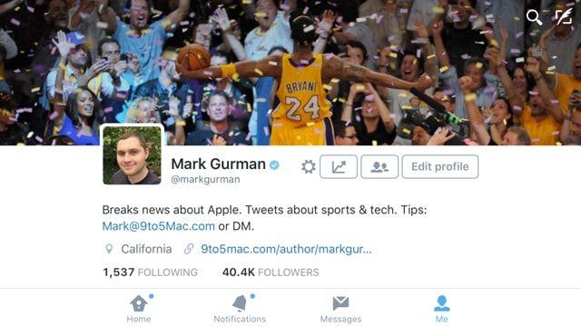 Twitter, iPhone 6 Plus, горазонтальная локация