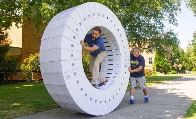iMac, упаковка, колесо