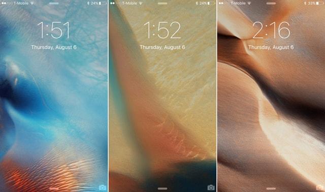 iOS 9, новые обои