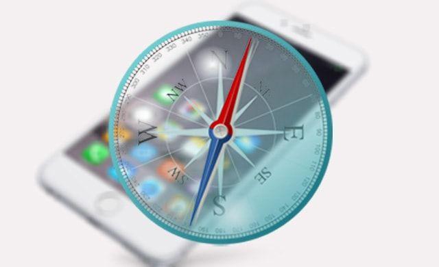 iOS 9, компас, гироскоп, отклонение