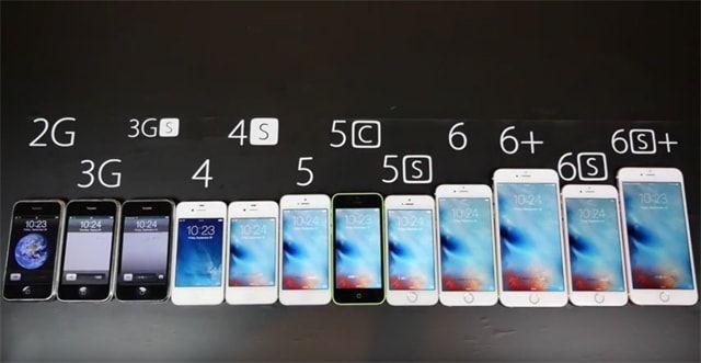 вся линейка iPhone , тест