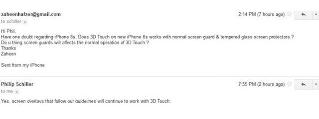 iPhone 6s, 3D Touch, защитная пленка