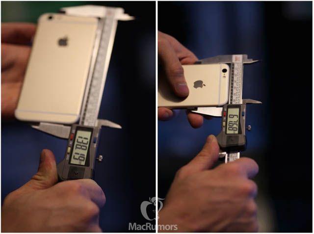 iPhone 6s, высота, ширина