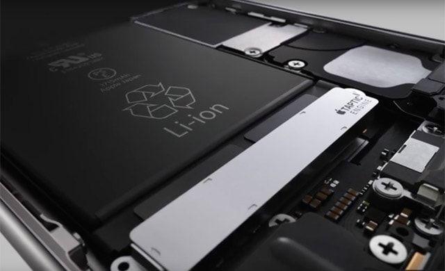 iPhone 6s, батарея