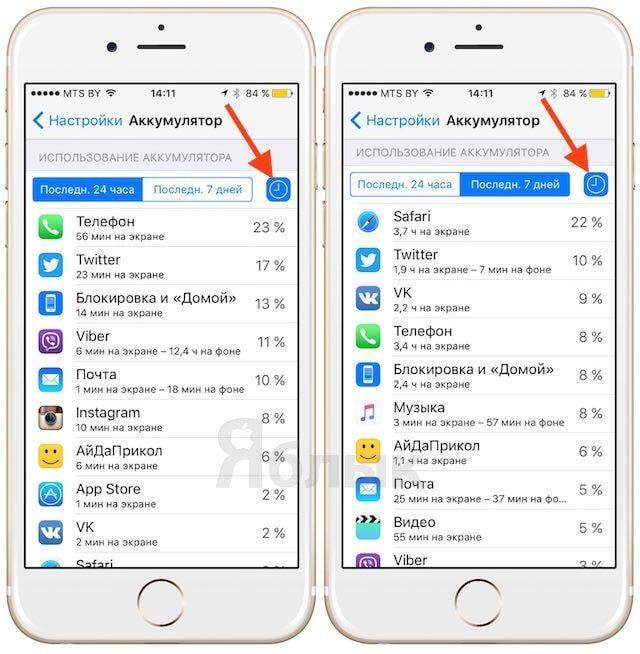 iOS 9 настройки энергосбережения