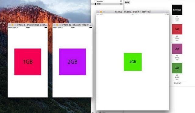 Скриншот с данными об ОЗУ в новинках Apple