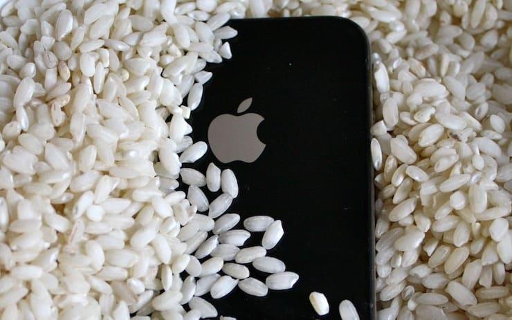 Айфон и рис: нужно ли держать «утонувший» смартфон в крупе?