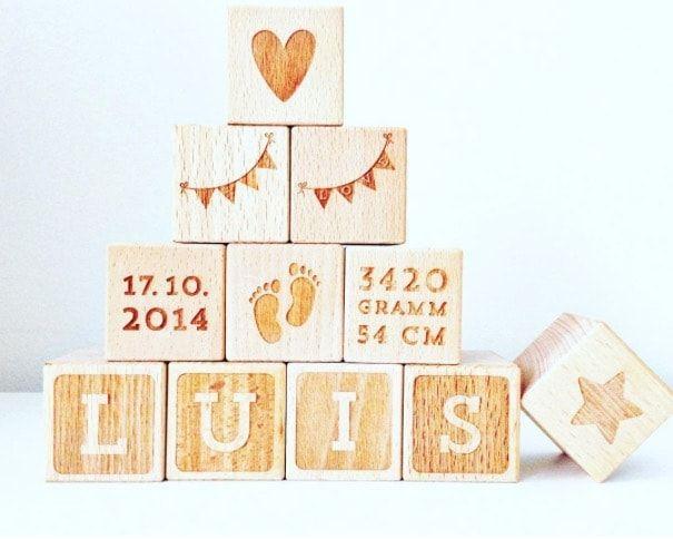 деревянные кубики - идеи в Instagram