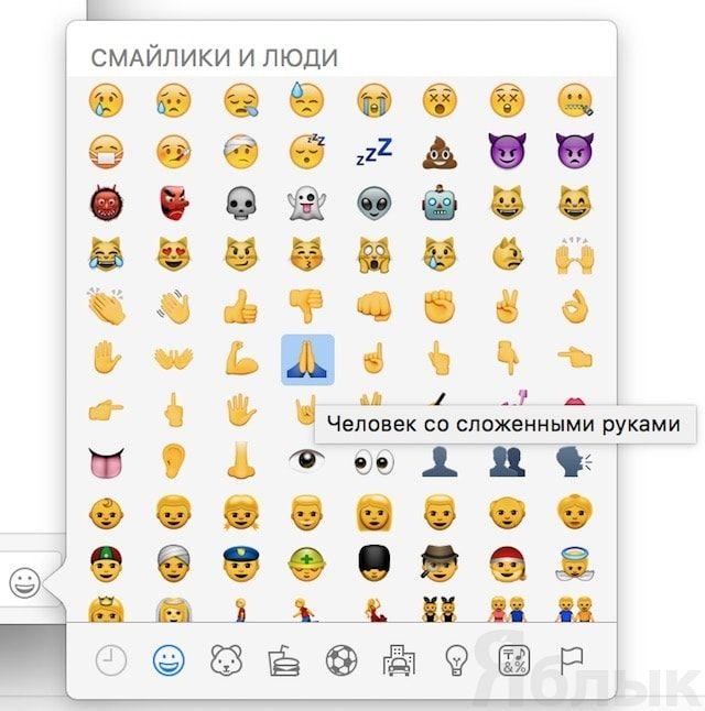 Словарь смайликов Emoji, или как узнать значение эмодзи на Mac, iPhone, iPad и iPod touch