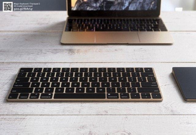 Концепт Magic Keyboard и Magic Trackpad 2
