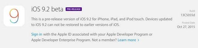 iOS 9.2 и OS X El Capitan 10.11.2