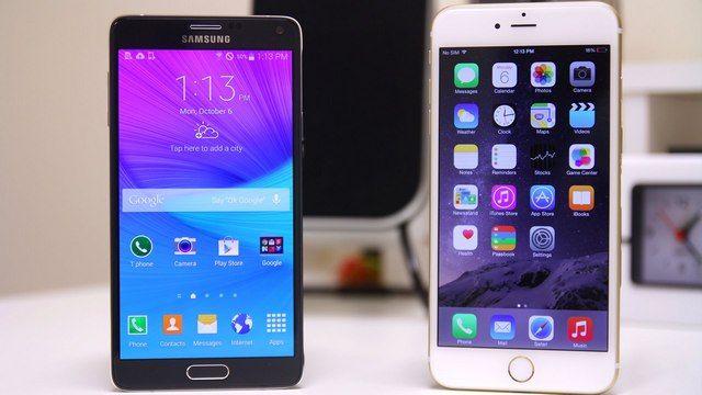 iPhone 6s Plus и Samsung Galaxy Note 5