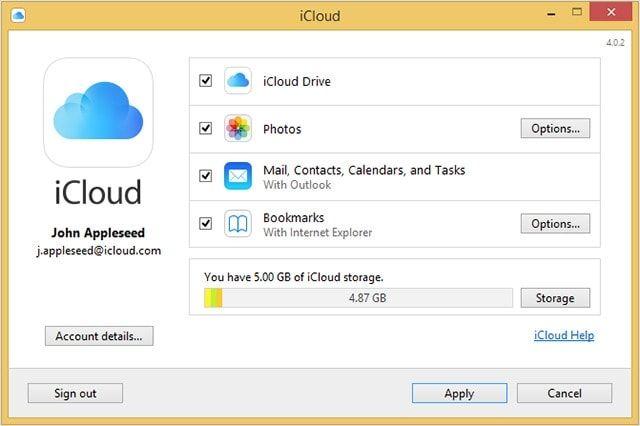 iCloud для Windows