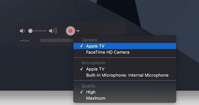 Как записать видео с Apple TV 4G на Mac