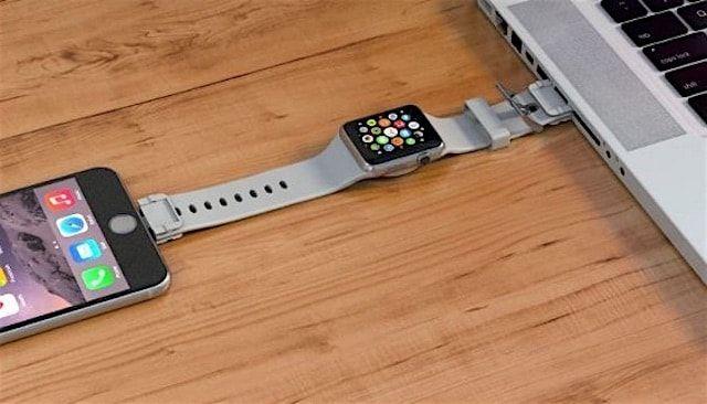 CharSpace – ремешок для Apple Watch, позволяющий заряжать часы