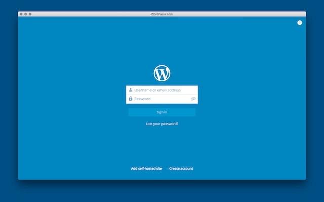 приложение WordPress для Mac