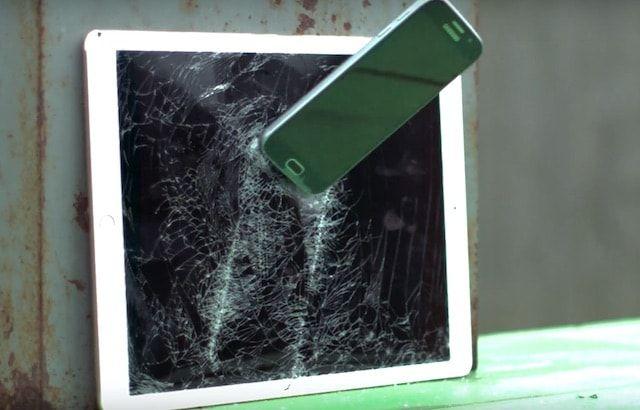 Как уничтожить iPad Pro при помощи Samsung Galaxy S6