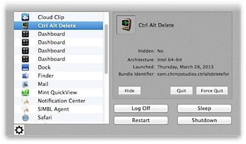 Ctrl + Alt + Del на Mac OS X